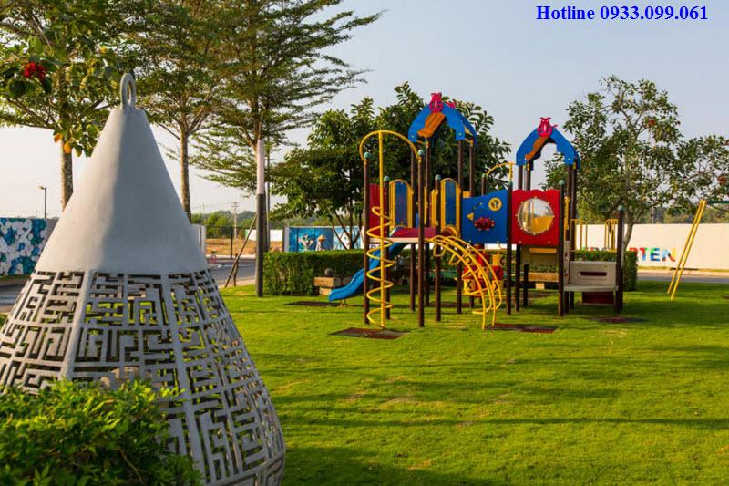 Hình ảnh thực tế công viên cây xanh tại biệt thự Đại Phước Lotus